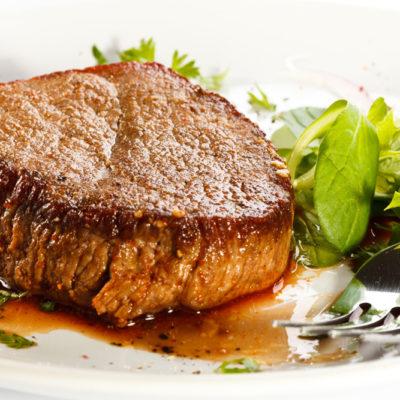 Beaf Steak At Hotel Katina